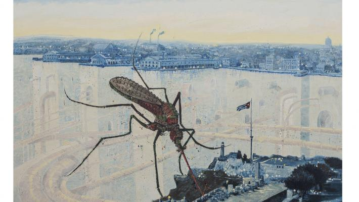 Picazzo, óleo sobre tela, 155 x 155 cm, 2019.