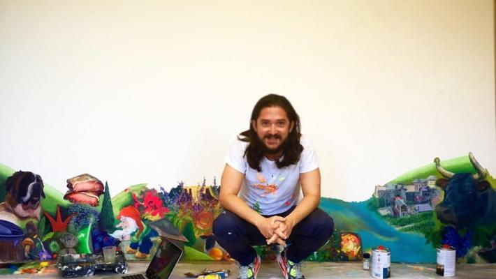 Young Cuban painter Alberto Lago, official Latin Grammy 2019 artist