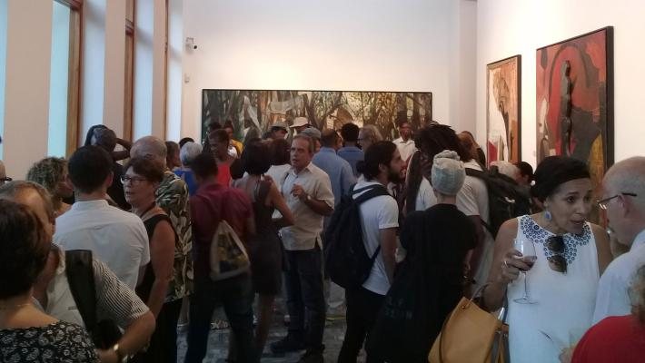 Inauguration of the exhibition Finale Worlds en Maxima Gallery-Studio