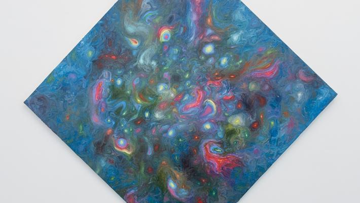 Alberto Lago. The herbal mind. 87 x 87 cm. óleo-lienzo