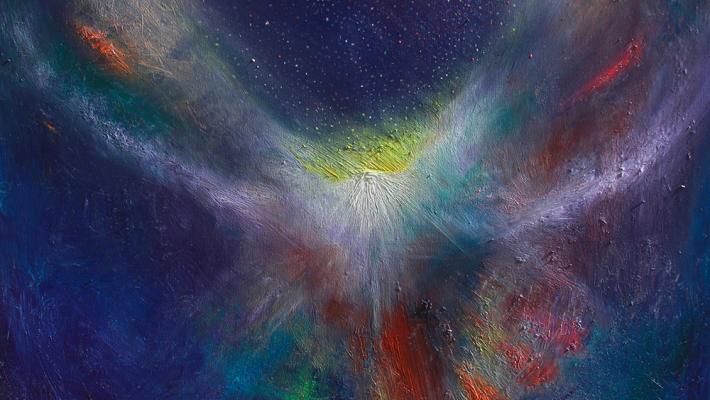 Abra-fluorescent oil on canvas-50cm-70cm, 2020