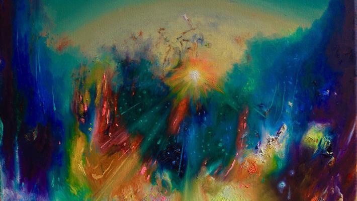 Future-fluorescent oil on canvas, 40cm-50cm, 2020