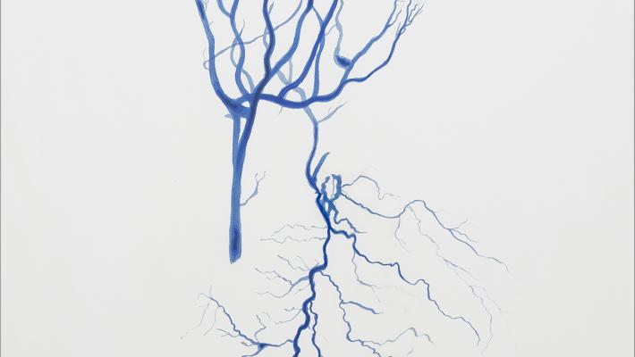 Rafael Villares-Obra 1, en cartulina, de la serie Eco