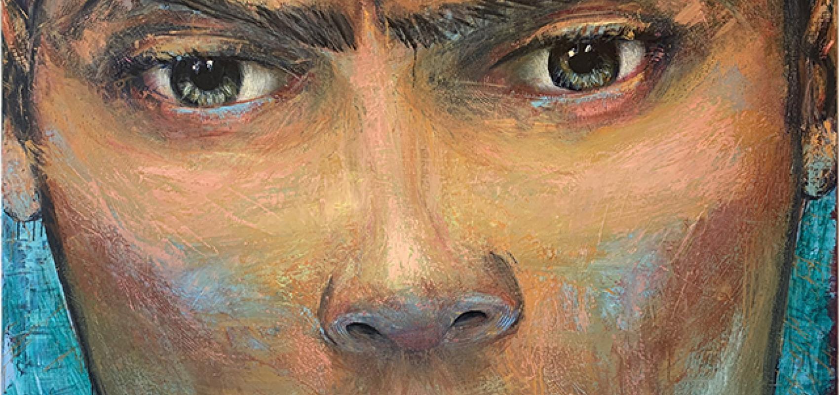 Obra Andros, óleo sobre tela.