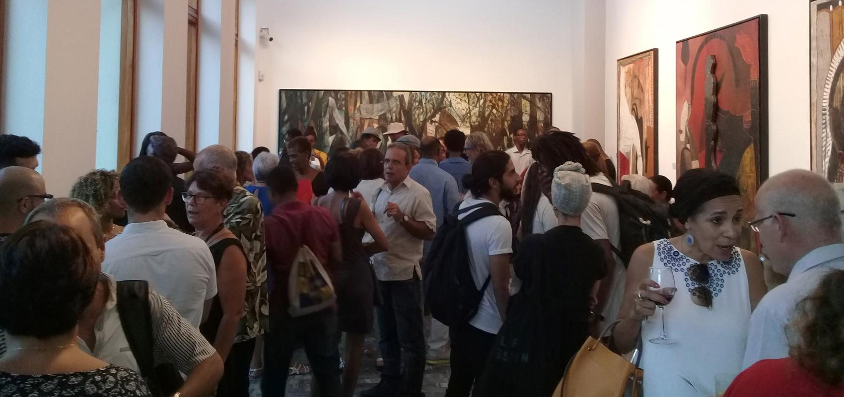 Moments of the exhibition of Finale Wolrds in Maxima Gallery-Studio
